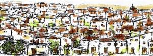Dibujo de Carlos Saura, para la película La Jota